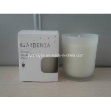 Vela de Frasco de Vidro Perfumado Gardenia