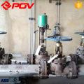 Válvula de controle de pressão de fluxo de vapor de atuador de forro de controle elétrico