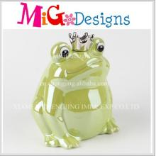 Top Selling Decoration Frog Shaped Ceramic Piggy Bank