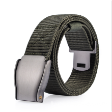 YCMW-0013, yiwu factory selling automatic buckle canvas trousers belt