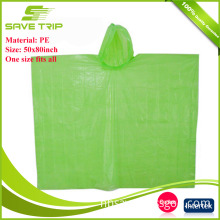 Free Sample PE Material Colorful Women Adult Rain Coat Waterproof