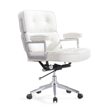 White synthetic leather boss Chair office Chair computer chair HY4009