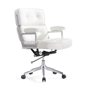 Weißer Kunstleder Chef Stuhl Bürostuhl Computer Stuhl HY4009