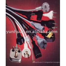 Ensemble de AC fan cordon électrique câble d'alimentation USA Euro style américain UL homologation de type
