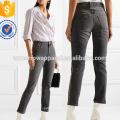 Кристалл-украшенные высотных узкие джинсы оптом производство модной женской одежды (TA3060P)