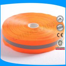 Оранжевый серый оранжевый цвет 1 дюйм отражающая нейлоновая лямка