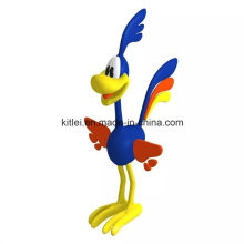 Personagem de desenho animado ICTI Atacado PVC plástico animal de Natal Kids Toy