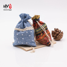 beautiful comfortable linen drawstring pouch