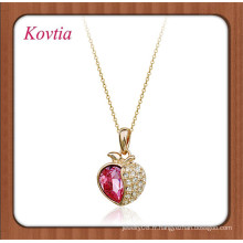 Gros italina crystal apple shape necklace necklace for young girls