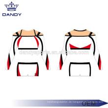 Kundenspezifisches metallisches Gewebe-Jugend-Cheerleader-Kleid