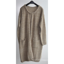 Winter Ladies Longline Open Cardigan with Pocket