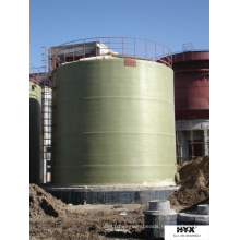 Fiber Glass Reinforced Plastic Large Tank on Site