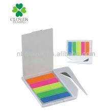 Abridor de cartas de plástico com bloco de notas