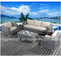 Aluminum Frame Wicker Furniture Rattan Sofa Set for Garden (9059)