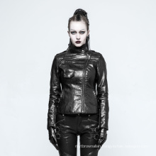 OPY-215 PUNK RAVE Gothic Witch Asymmetry Jacket women  leather coat