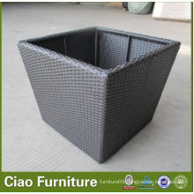 Hotel Outdoor Furniture Wicker Flower Pot