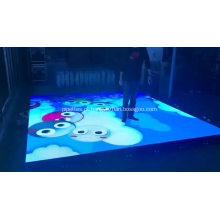 Pista de dança portátil led ao ar livre interativo