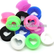 Factory Silicone Tunnel Plug Ear Piercing Heart Shape