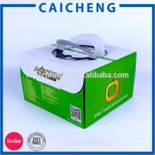 Emballage adapté aux besoins du client de boîte de gâteau de Colorluxury avec la poignée