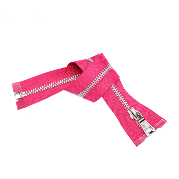 Durable Material Zip Metal Teeth Red Zipper
