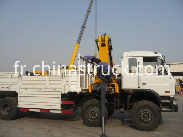 truck mounted with crane
