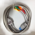 Datex One-Piece 3ld Snap ECG Cable with Leads (IEC)