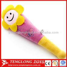 Hot sale flower smile face toys soft plush massage sticks