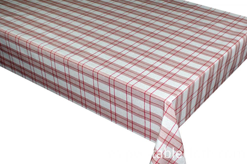 Printed Pvc Tablecloth With Fabric Backing
