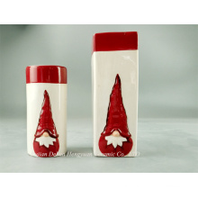 Lovely Santa Ceramic Candle Holder, Christmas Decoration
