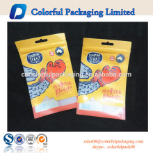Mylar fishing lures with zipper fishing bait package customized soft platic bait bags for fishing