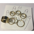 Set Fashion Simple Metal Gold Plated Ring