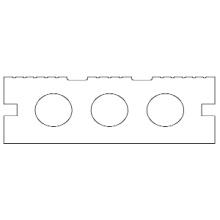 Decking exterior de engenharia WPC com a instalação fácil (BC80H30)