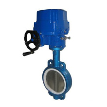 Wafer Concentric Type PTFE Seat Electric Regulating Butterfly Valve (D971F)