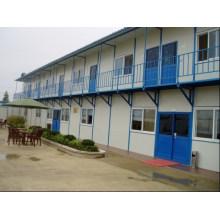 Vorgefertigtes farbiges Stahlsandwich-Panel-modulares bewegliches Haus-Haus