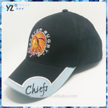 Light Blue patches six panel baseball hat good quality and custom logo