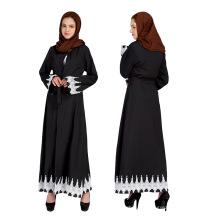 Vente chaude Moyen-Orient femmes musulmanes modestes mode maxi robe coton abaya