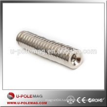 N50 Strong Countersunk Ring Rare Earth Neodymium Magnets Hole 4mm