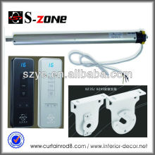double channel european style motorized retractable curtain