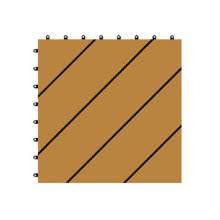 300 * 300 * 22 WPC / madera de plástico compuesto de bricolaje piso