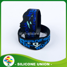 Gelang Silicone Custom Black Blue