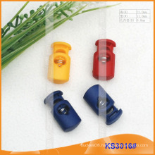 Nylon cord stopper or toggle for garments,handbags and shoes KS30016#