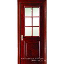 6 Lite Puertas francesas interiores de vidrio
