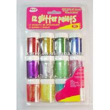 12 cola glitter, tintas brilhantes (3898 #)
