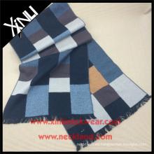 Rejilla gris amarillo 100% seda cepillado bufanda chales de seda y bufandas