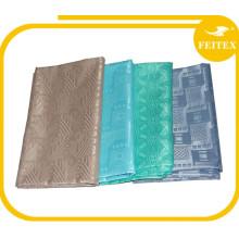 Approvisionnement d'usine Sénégal Vente chaude 100% Polyester Jacquard Fabric