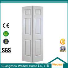 Би-складные шести панели межкомнатные деревянные двери пустотные Белый грунтованный для проекта