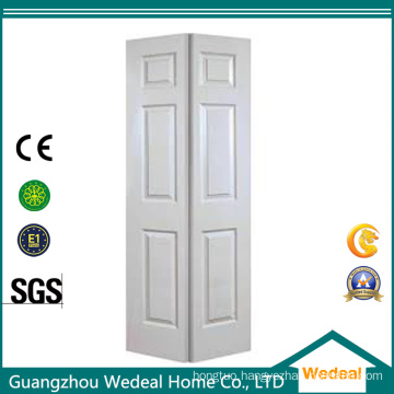 Bi-Folding Six Panel Interior Wooden Door Hollow Core White Primed for Project