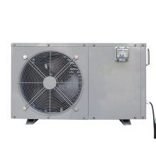 White Galvanized horizontal metal cabinet 60 degree air source heat pump water heater