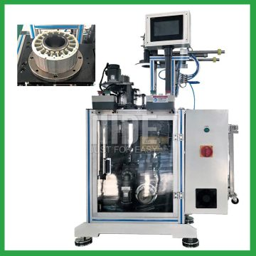 Automatic motor stator paper cutting and insertion equipment