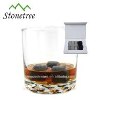 Rochas de refrigeração de uísque de granito / pedras de vinho de cubo de gelo cinza / Bar acessórios Whiskey Stone
